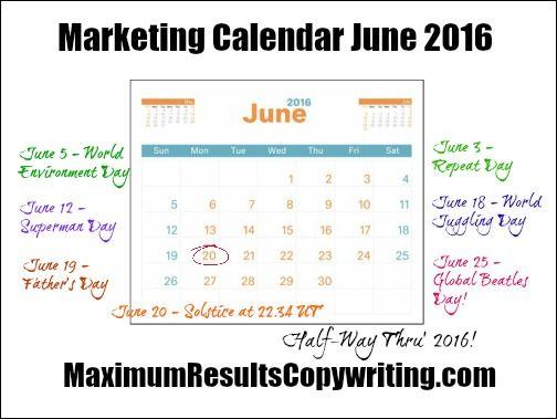 Looking Ahead - Marketing Calendar June 2016 - http - what is a marketing calendar