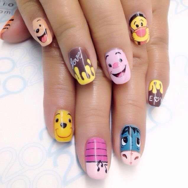 Winnie The Pooh Nails Nail Designs Pinterest Nagel