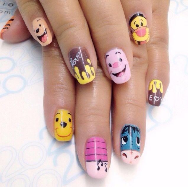 Winnie the Pooh Nails | Disney Nails | Pinterest | Disney ...