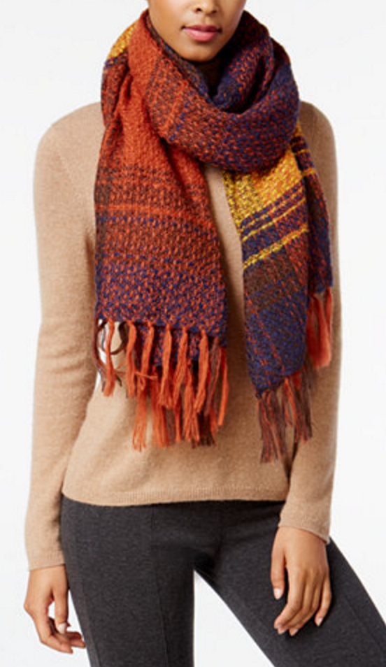 Cozy and soft textured scarf