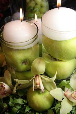 with apples wedding diy apples floating candles apples easy and cheap