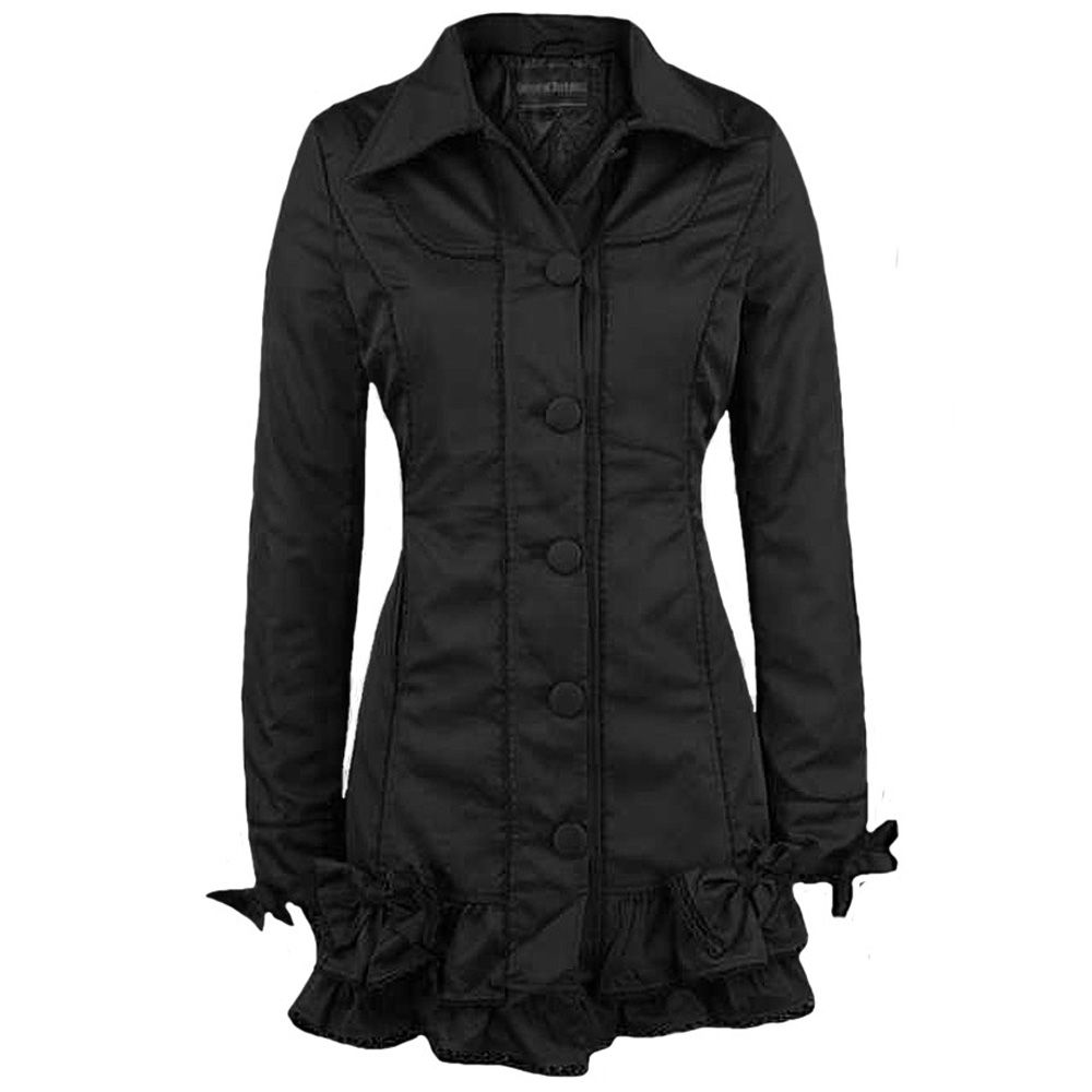 Veste Longue 'Rainmaker' Noire by Queen of Darkness | Veste