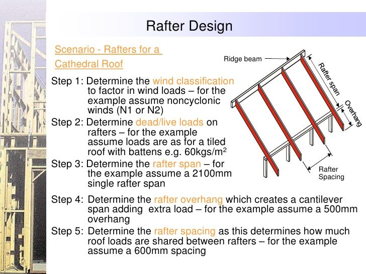 Rafter Design Scenario Rafters For A Ridge Beam