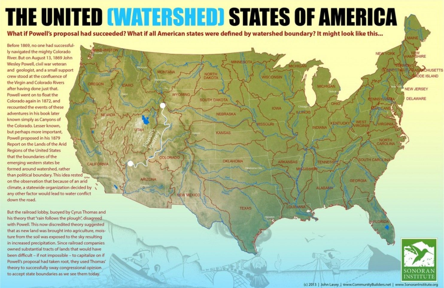 Map: The United States of Watersheds | Map, Historical maps ...