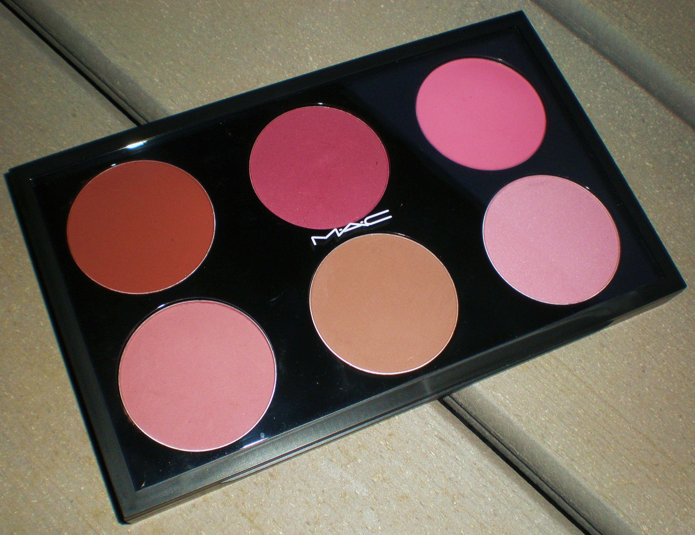 MAC Customizable Pro Palette blush (Top LR Raizin