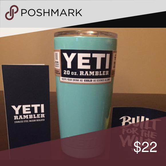 Yeti cup !! Be warned of other sellers. I won't sell you a cup unless I have it in stock. You will receive your order within 3 business days.Please read reviews.!!  Brand new Tumbler set. Made of 18/8 Stainless Steel.   If you need more than one leave a comment. I will bundle to your needs and save you money on shipping. I could bundle up to 4 for same shipping price. Accessories