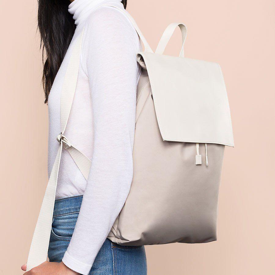 1273a33020 Minimalist Backpack - Two Toned Cream Minimalist Bag