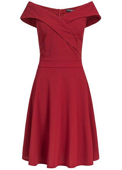 Styleboom Fashion Damen Off-Shoulder Dress rot | Modestil ...