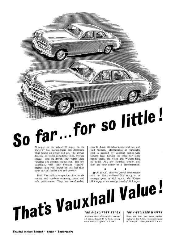 Car Brands Starting With P >> 1954 Vauxhall Das Auto Vauxhall Motors Commercial