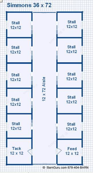 10 Stall Horse Barn Design Floor Plan Georgia Horse Barn