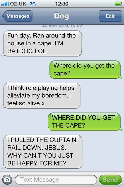 Text from my dog - Batdog - It's a been around awhile, but it makes me laugh.