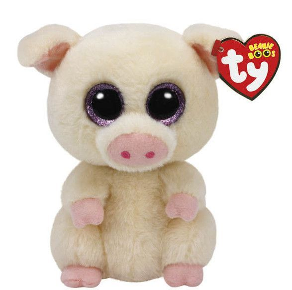2caa45f1083 Collectors of Ty Beanie Boo s and lovers of all things cute won t want to  miss this regular-sized Piggley the Pig plush! Its pink fur