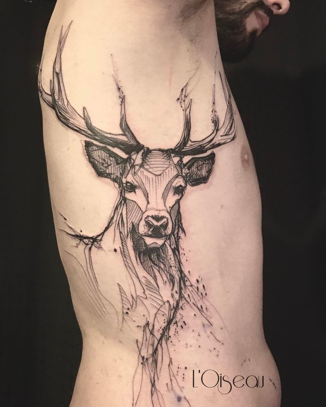 Cerf tatouage signification fashion designs - Tatouage oiseau signification ...