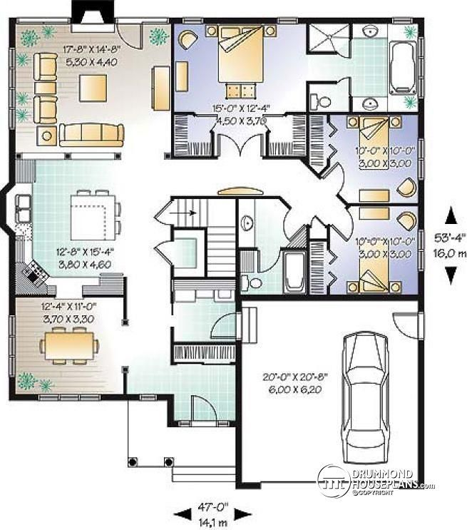 Discover The Plan 3223 Fairmeadows Which Will Please You For Its 3 Bedrooms And For Its Country Styles Bungalow House Plans Bungalow Style House Plans House Plans