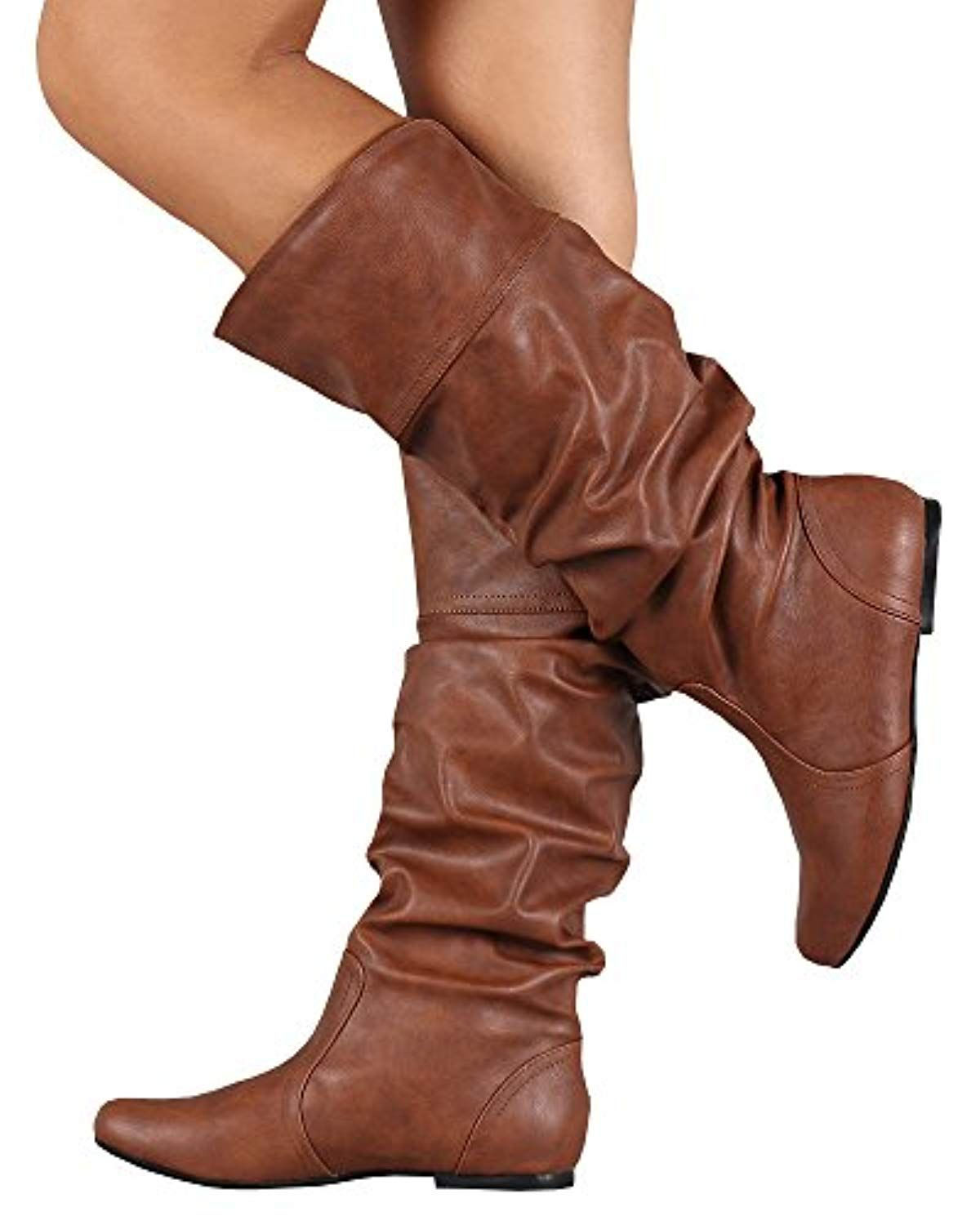 4c93a936bd3f1 Womens Knee High Boots Leather Wide Calf Riding Low Heel Flat Winter Shoes    Click on the image for additional details. (This is an affiliate link)    ...