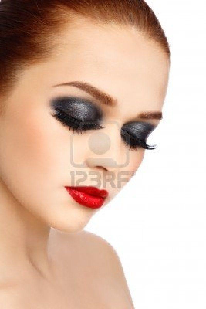 Dark Smokey Eyes Red Lips   Makeup   Pinterest   Dark Smokey Eye Lips And Eye