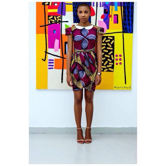 "African Print Dress by ""Natacha Baco"" (Robe) #myblackisbeautiful #waxprint #blackwoman #blackwomen #westafrica #african #africaine #africanprint  #africanstyle #africanfabrics #africanfashion #africaninspired #africanbeauty #teamafrica #blackgirlsrock #blackisbeautiful #blackgirl #prettybrownthing #africanwoman #africanwomen #afropolitan #africafashion #ankarafashion #darkskinned #pagne #africanprints #afw #afwl #vlisco"