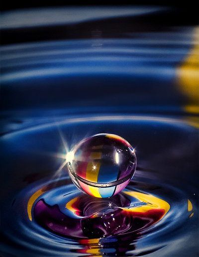 Blue Water Rainbow With Images Water Drop Photography Water
