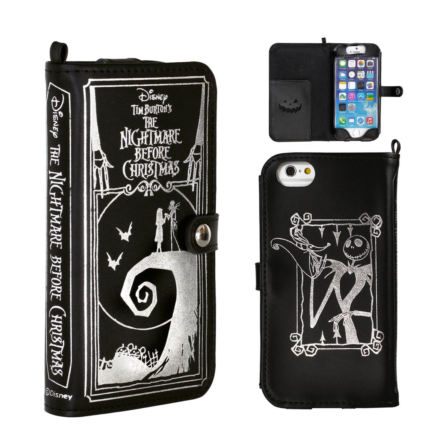 Jack skellington bathroom set - Amazon Com Golden Berg 19 829295 Nightmare Before Christmas Split Leather Case For