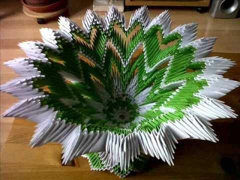 3D Origami Diamond Pattern Peacock Tutorial