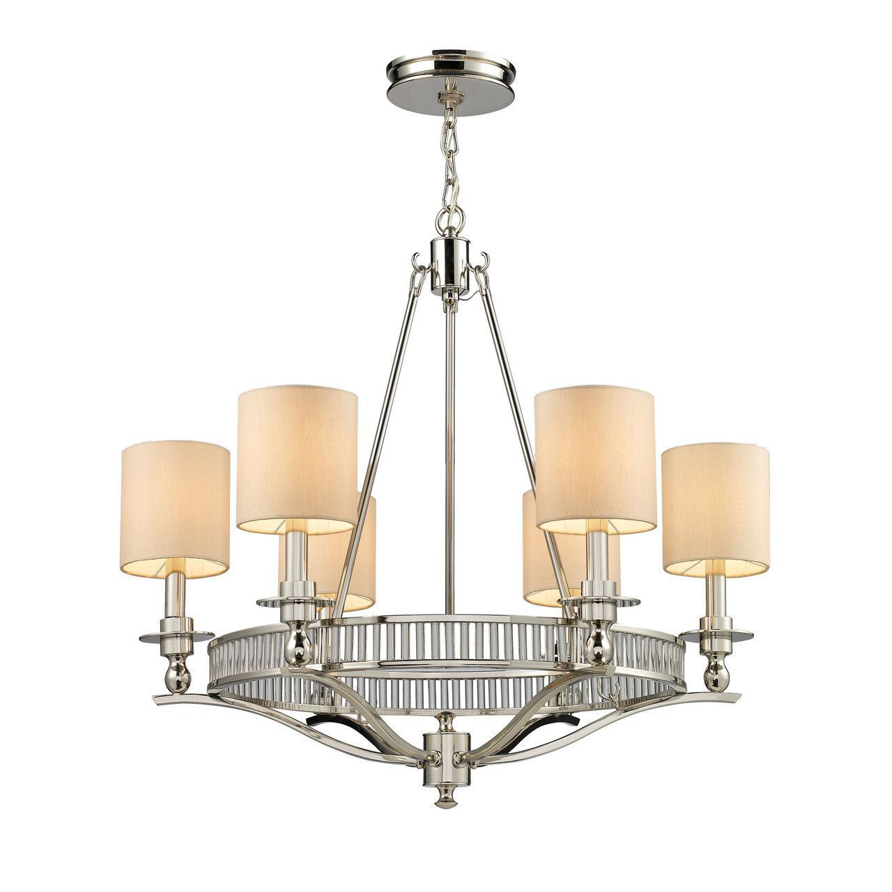Easton 6 light chandelier in polished nickel 10167 6