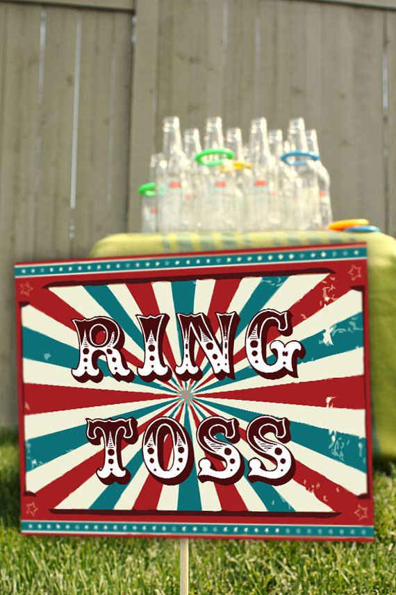 Items similar to 22 Vintage Carnival Party Signs C