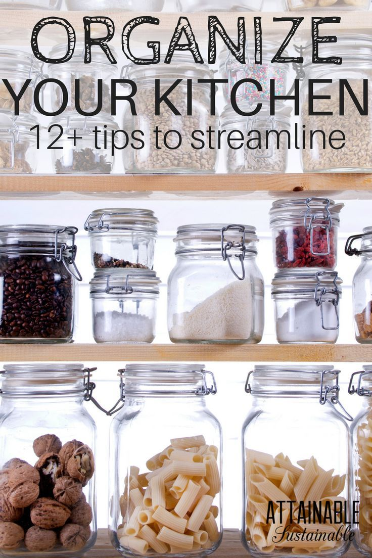 Hereu0027s How To Get Organized In Your Kitchen. Streamlining Things Like  Kitchen Cupboard Storage Solutions