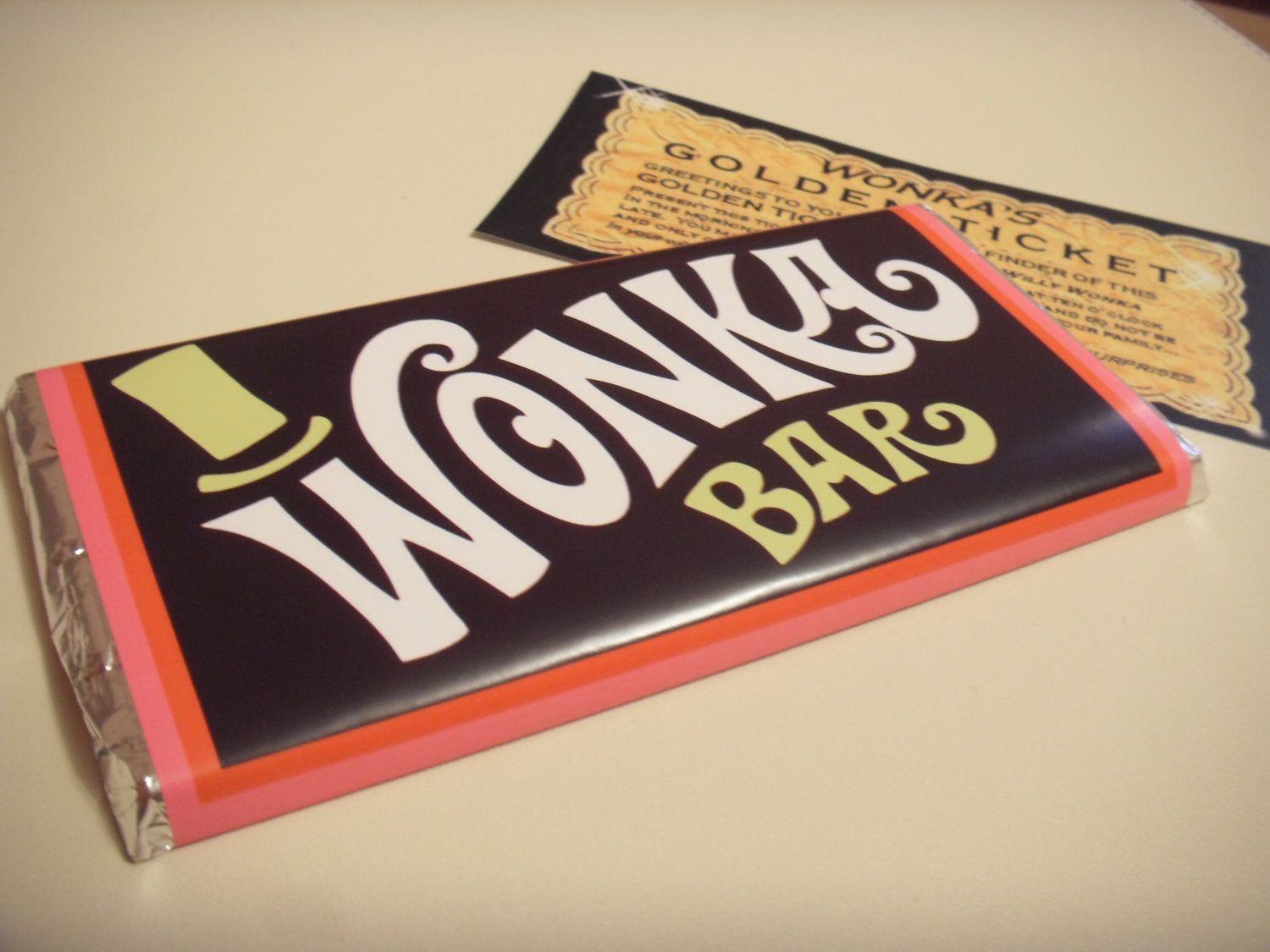 Willy wonka & the chocolate factory replica novelty wonka bar x1 ...