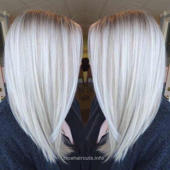 Platinum White Blonde Balayage – Straight Shoulder Length Haircut 2017…  Platinum White Blonde Balayage – Straight Shoulder Length Haircut 2017  http://www.nicehaircuts.info/2017/05/29/platinum-white-blonde-balayage-straight-shoulder-length-haircut-2017/