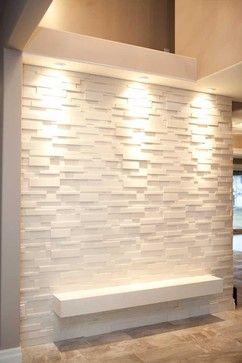 Stone Wall Covering Modern Entry Dekko Concrete Decor Feature Wall Design Wall Design Modern Entry