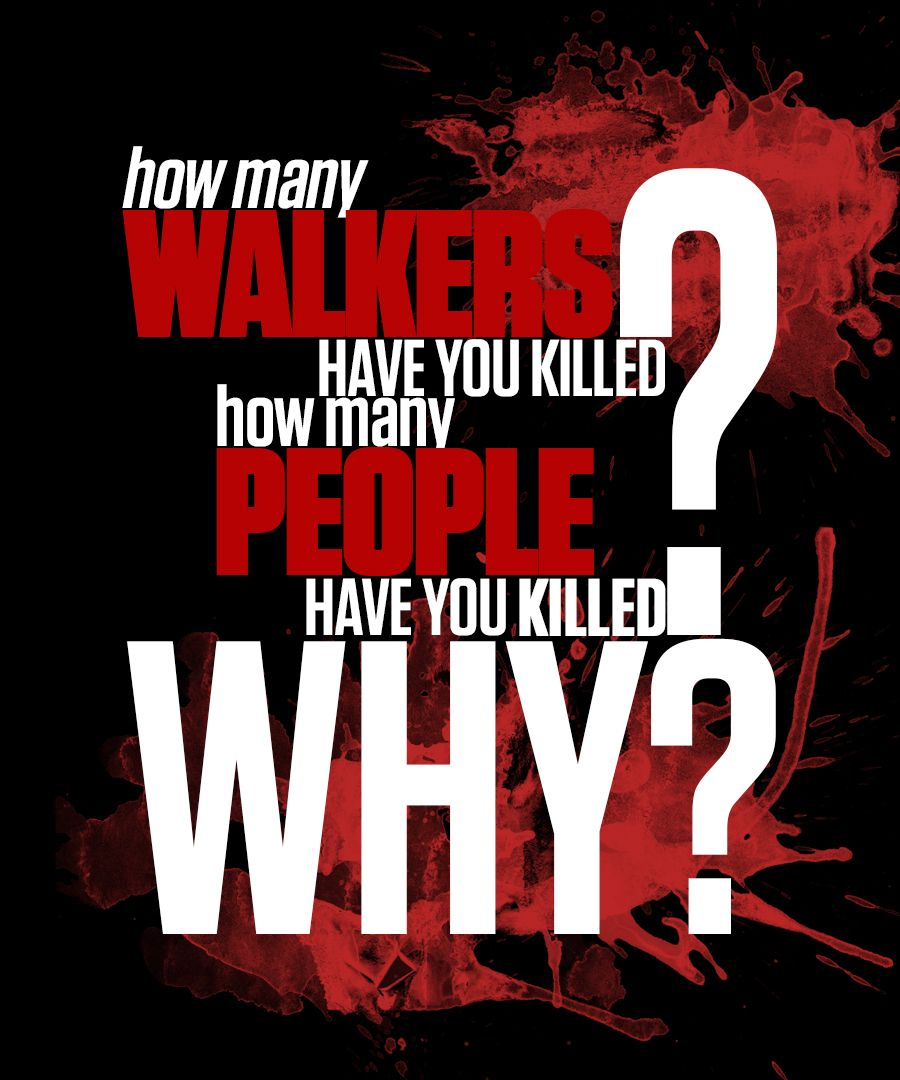 Minimalist Image About The Walking Dead How Many Walkers Have You