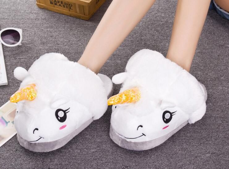 Photo of US $9.0  New Plush Unicorn Cotton Home Slippers for White Despicable Winter Warm Chausson Licorne Indoor Christmas Slippers Fit Size36 41 home slippers christmas slippersunicorn plush cotton slipper – AliExpress