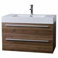 "similar nola walnut $600 free ship 35.5"" Wall-Mount Contemporary Bathroom Vanity Walnut TN-M900-WN"