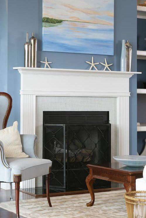 smoky blue Style Coastal Pinterest - wohnzimmer weis blau