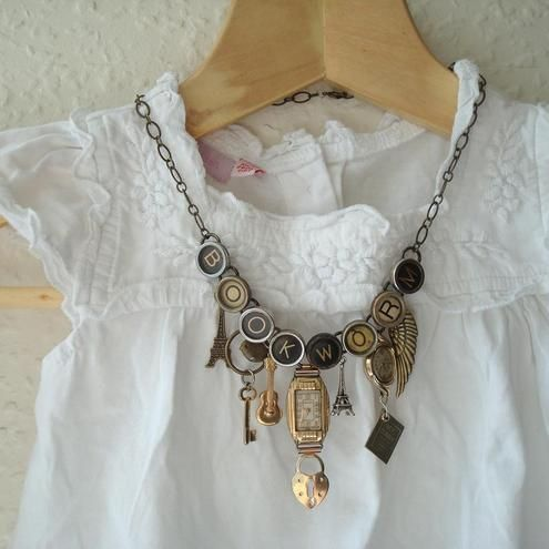 necklace ~ an idea to adapt from pieces and parts I have.