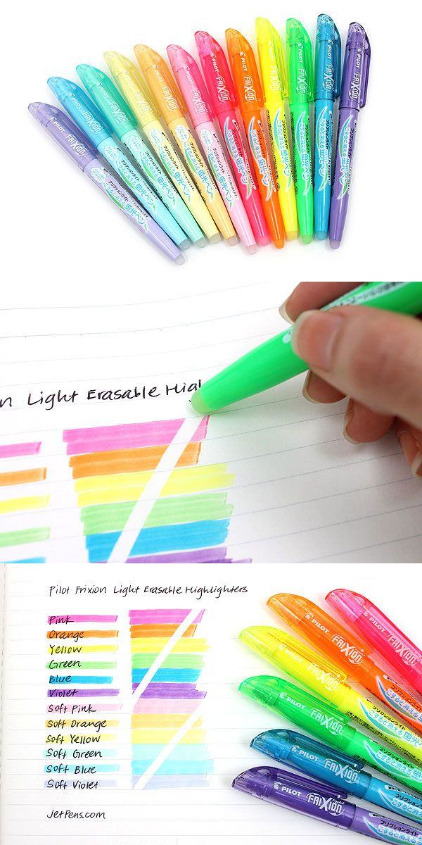 These erasable highlighters are eco-friendly, made of 87% recycled materials!