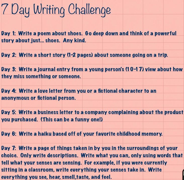 7 Days Of Writing Challenge I Don T Particularly Like Poems But