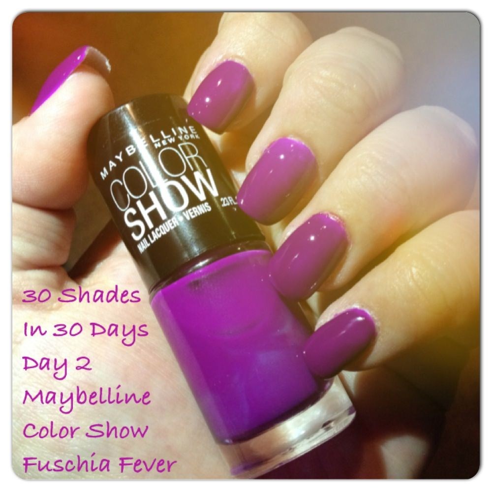 #30shadesin30days Day 2 Maybelline Color Show Fuschia Fever- absolutely gorgeous color! #missmystique