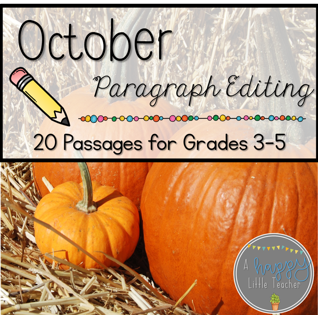 October Print Amp Go Paragraph Editing 20 Passages For