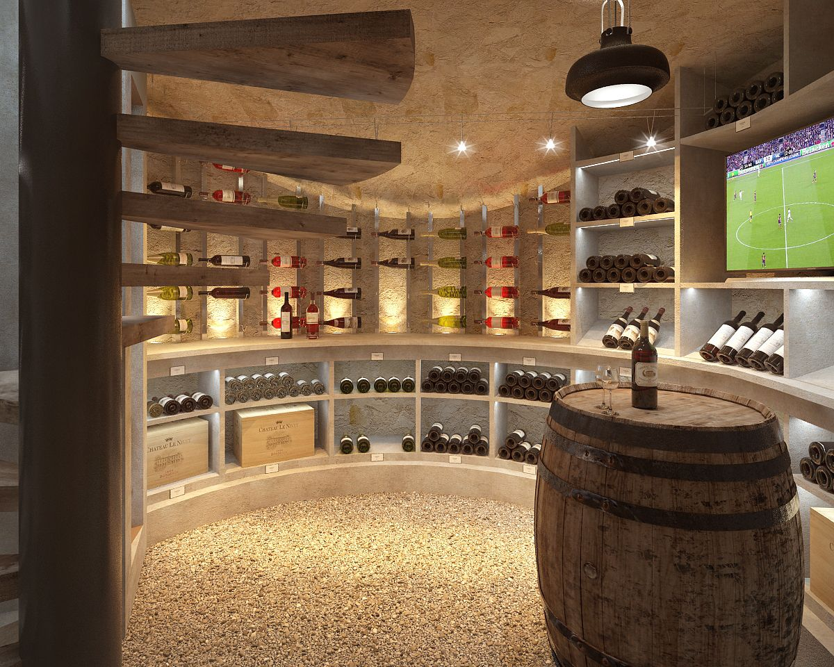Villa Dh Cave A Vin Cave A Vin Cave A Vin Design Amenagement