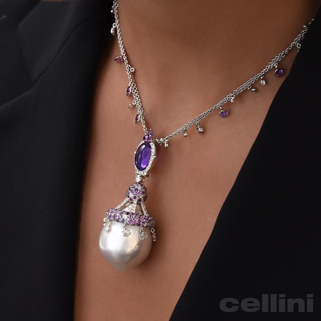 Baroque pearls amethyst pendantnecklace cellinijewelers baroque pearls amethyst pendantnecklace cellinijewelers pearl jewelrygemstone jewelrypearl earringspearl pendant necklaceunusual aloadofball Image collections