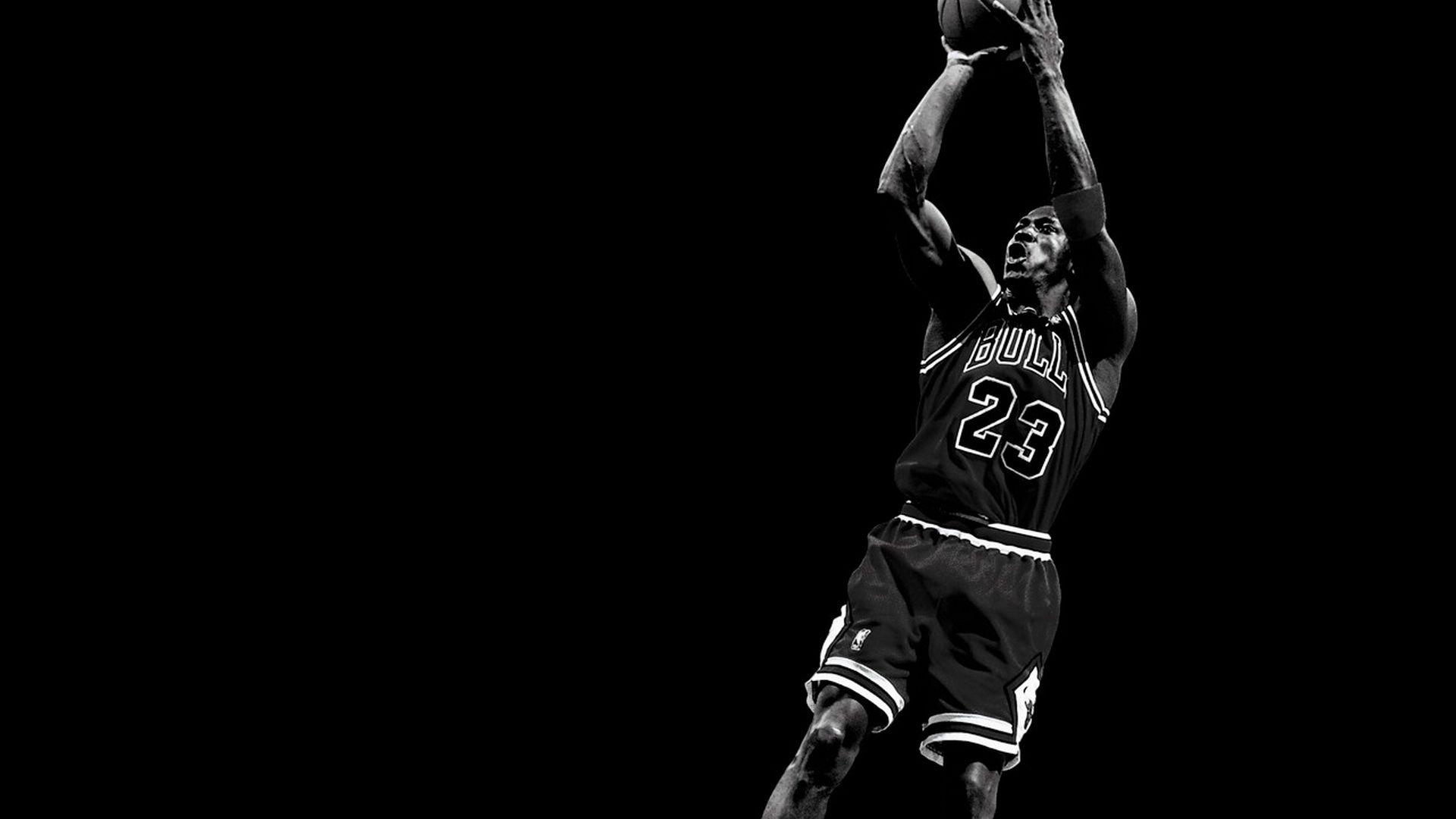 Michael Jordan Computer Black and White Wallpaper High
