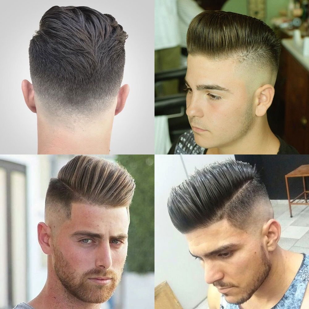 Pompadour Fade Haircuts Mens Hairstyles Pinterest Fade