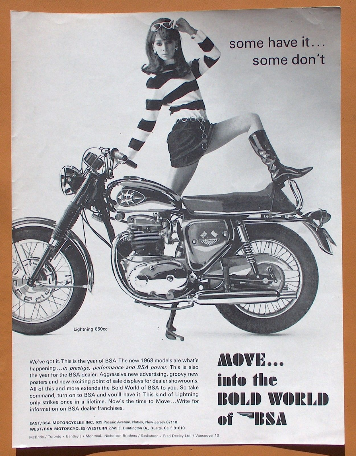 Bsa Poster 5 Vintage Motorcycle Posters Retro Motorcycle Bsa Motorcycle