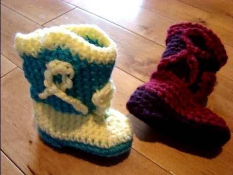 Crochet Baby Cowboy Booties Free Crochet Tutorial Crochet Knit