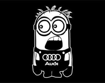 Minion Audi coche pegatina de vinilo