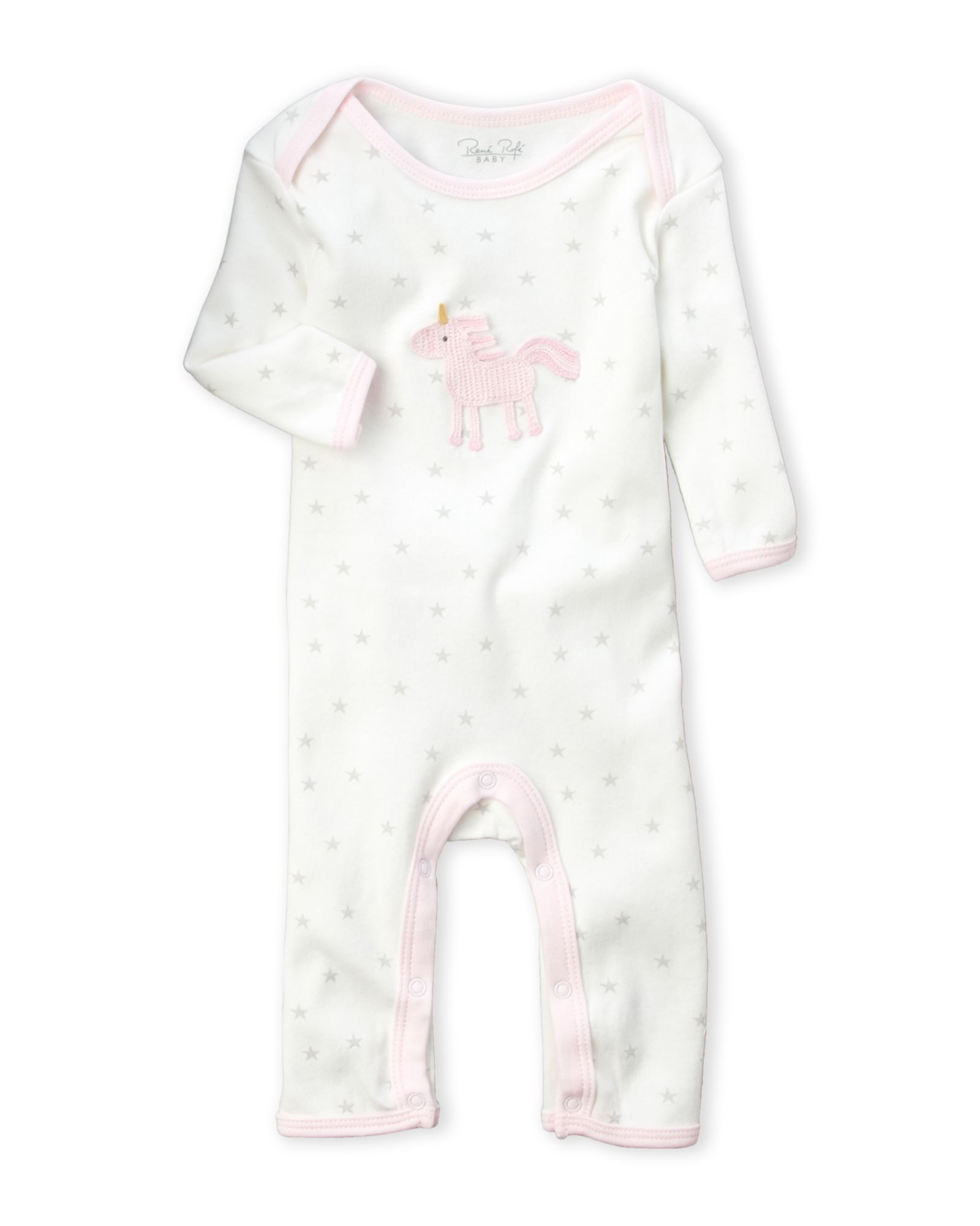 Newborn Girls Unicorn Star Romper