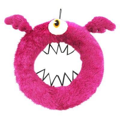 Halloween Mad Lab Fur Wreath (Pink Orange) - - Hyde and Eek! Boutique