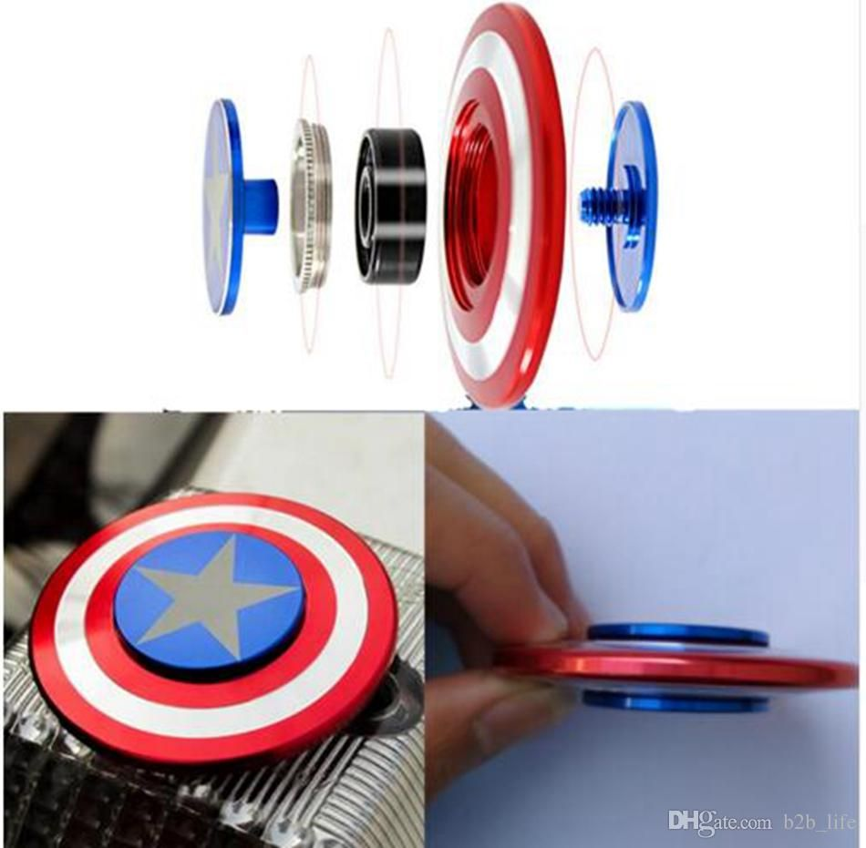 Captain America Shield Hand Spinner 3 Styles Alloy Tri Fidget Metal Alumunium Iron Man Puzzle Toys Finger Gyro Ooa1515 Beyblade Variares Modes Comanda