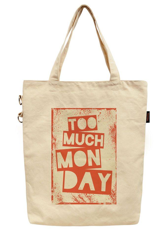 Word Up Printed Canvas Tote Bag Tote Bag Bags